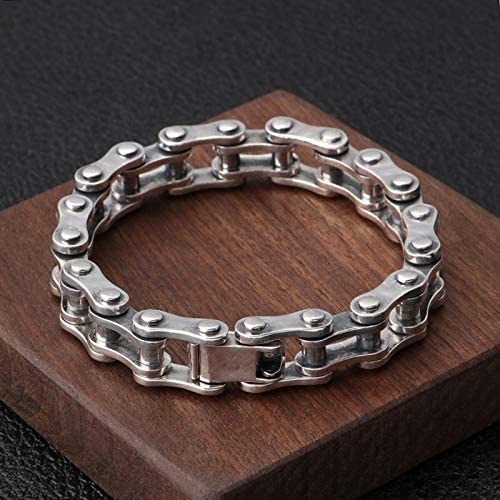 Sterling Silver and Gold Plated Bike Chain Bracelet
