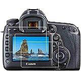 BTER - Protector de pantalla para cámara réflex digital Canon EOS 5D IV/III, EOS 5D Mark 4 3, protector de pantalla de cristal templado 9H, antiarañazos, antihuellas, antiburbujas (3 unidades)