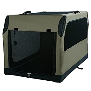 A4Pet Collapsible Dog Crate and Kennel Soft Sided Large Pet Carrier with Leak Proof Bottom for Indoor/Outdoor/Home/Travel Use
