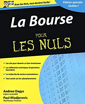 Paperback Bourse pour les nuls, édition quebecoise (French Edition) [French] Book