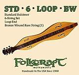 Folkcraft Mountain Dulcimer String Set, Six String, Loop Ends (.011' .011' .013' .013' .024BW' .011')