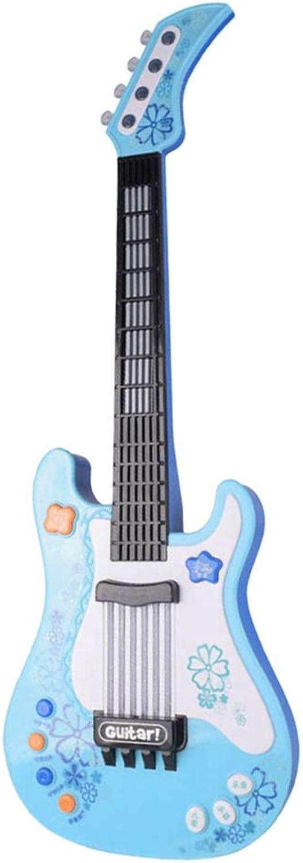 TOYANDONA Kinder EGitarre Spielzeug Musikinstrument Spielzeug Batterie Nicht enthalten (bluee)