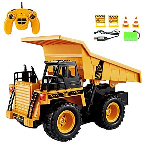 freneci 2,4G 1/22 Juguete de Control Remoto camión de volteo Modelo 4WD Coche de ingeniería 15m de Distancia remota Coche de Juguete Regalos