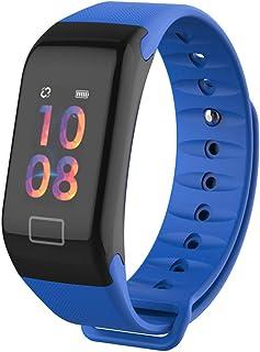 Reloj inteligente, pulsera inteligente con pulsómetro para mujeres, hombres, monitor de actividad, pantalla a colores cardiovascular, impermeable IP67 Deportes Smart Watch, podómetro Smartwatch (azul)