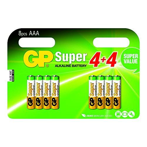 GP Battery 03024ADHC8 Super Alkaline AAA Micro 8er multip.