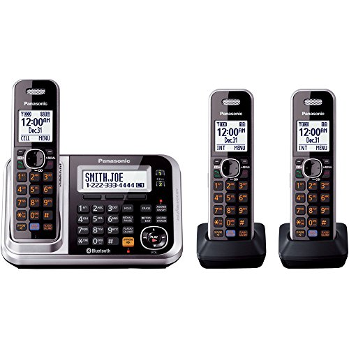 Panasonic KX-TG7873S Link2Cell Bluetooth Enabled Phone with Answering Machine & 3 Cordless Handsets (Discontinued By Manufacturer)