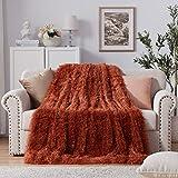 NexHome Soft Shaggy Faux Fur Blanket Full Size 70' x...