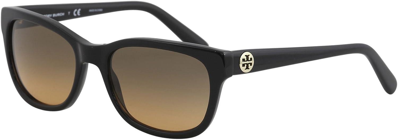 Tory Burch Womens TY7044 Black Grey Sunglasses 54mm