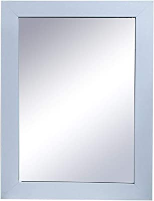 Gallery99 White Sparkled Glossy Marble Textured Mirror (Scratch/Dust Proof (21 inch x 15 inch))