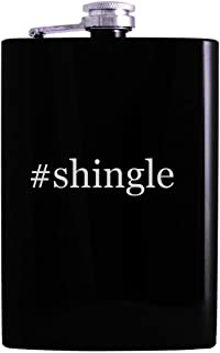 #shingle - 8oz Hashtag Hip Alcohol Drinking Flask, Black