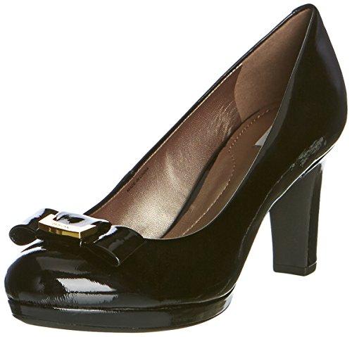 Geox - D Lana A, Sandalo Con Tacco da donna, Nero (Noir (C9999/Vern Perl)), 35
