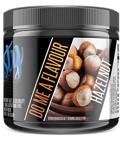 sinob Flasty Geschmackspulver (Hazelnut) 1 x 250g Kalorienarmes Flavour Pulver mit \'Nur ca. 7 kcal pro Portion\' bringt es Leben in deinen Quark, Joghurt und vielem mehr.