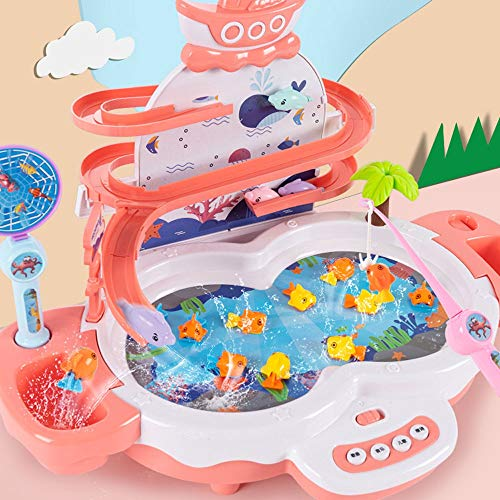 Lihgfw Children's Fishing Toys Spelen van de baby Puzzel Boy en Girl Early Education Multifunctionele Elektrische visserij Toys Ouder-kind interactief spel