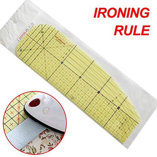Regla de patchwork acrílica con líneas de rejilla de doble color patentadas para un corte de precisión fácil, herramienta de medición hecha a mano para acolchar costura, manualidades, 30 x 10 cm
