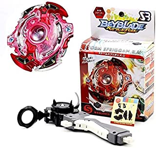HAPPYTOYS Beyblade Metal Funsion 4D With Launcher Spinning Top Classic Toy Fighting Gyro,Red