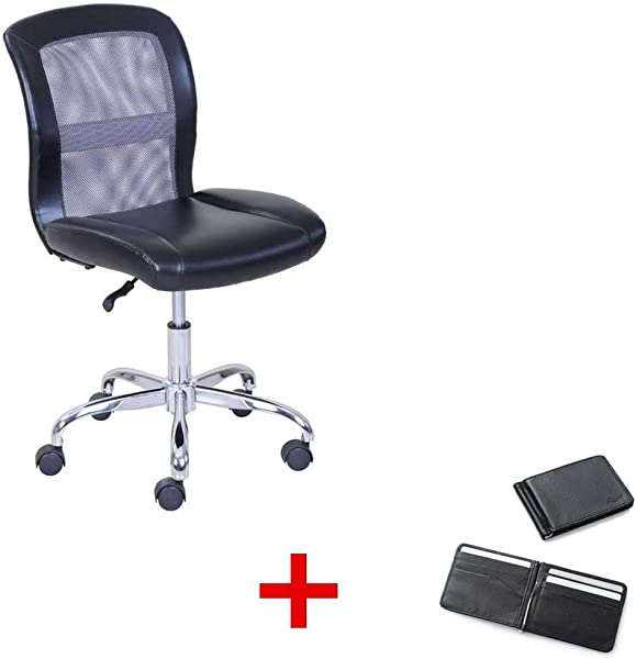 Mainstays Vinyl And Mesh Task Office Chair Multiple Colors With Purse Black Gray