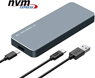 USB 3.1 NVMe M.2 SSD Caja de Carcasa - ElecGear NV-i9 Disco Duro Adapter, 10Gbps Aluminio Radiator Case Adaptador convertidor para PCIe NVMe 2280 M2 M-Key NGFF SSD Disk Drive, USB Tipo A y C Cable