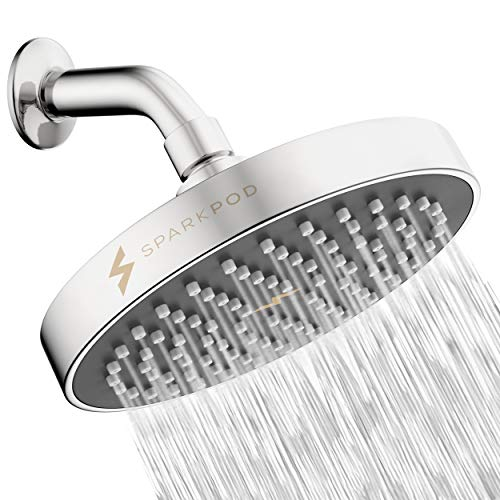 Product Image of the SparkPod Shower Head - High Pressure Rain - Luxury Modern Look - Easy Tool Free Installation - The Perfect Adjustable Replacement For Your Bathroom Shower Heads