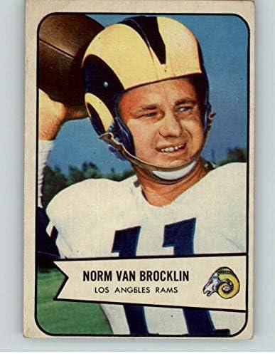 1954 Bowman shipfree #8 Norm Van Brocklin Rams Young Car Omaha Mall 397338 Kit EX-MT