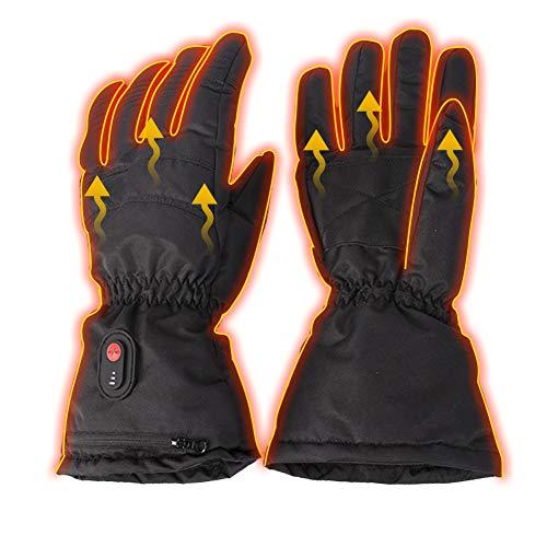 Guantes de calefacción eléctrica, guantes USB de invierno con pantalla táctil, 3 niveles de calentamiento ajustables y cálidos para actividades al aire libre