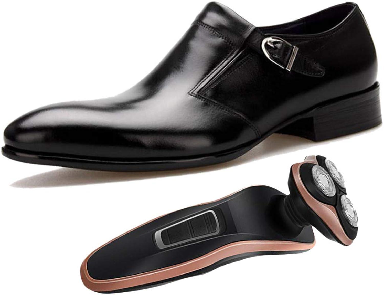 LZMEG Burgundy svart Pointed Mans Business skor Gentlemän bröllop skor Soft läder Party No Closure