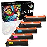 ColorPrint Compatible TN210 Toner Cartridge Replacement for TN-210 TN210BK TN210C TN210M TN210Y TN 210 for DCP-9010CN HL-3070CW 3075CW 3040CN 3045CN MFC-9010CN 9125CN 9325CW (5-Pack, 2B/C/M/Y)