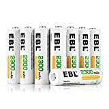 EBL 16-Pack AA Rechargeable Battery High Capacity 2300mAh Ni-MH Rechargeable AA Ni-MH Batteries