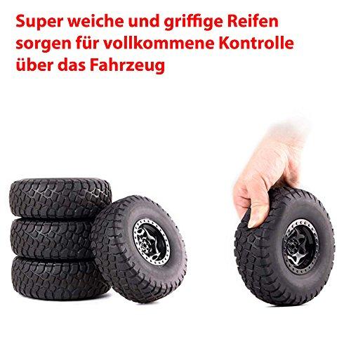 RC Auto kaufen Crawler Bild 6: 2,4Ghz RC ferngesteuerter 4WD Antrieb Crawler-Buggy, Kletterfahrzeug, Truck, Fahrzeug, Maßstab 1:14, Auto, Car, Komplett-Set*