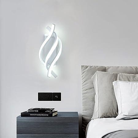 Applique Murale LED, 18W Intérieur Lampe Murale Moderne, Créativité Métal Lampe de Mur 1440LM pour Chambre Maison Couloir Salon Escalier (Lumière Blanche)