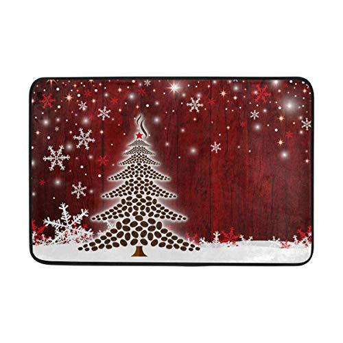 """Baofu Christmas Doormats Floor Mat Lightweight Non-Slip Foam Funny Area Rugs Entrance Front Door Rug Xmas Decorative for Indoor Garden Kitchen Bedroom 23.6"""" x15.7"""""""