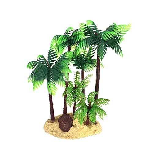 BRTTHYE 14Cm Kunststof Kokosnoot Palm Boom Miniatuur Plant Bonsai Craft Micro Landschap Diy Verjaardag Party Decoratie