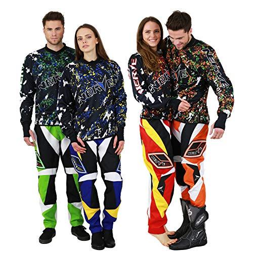 Nerve Shop motorcross motorfiets combi enduro motorjas motorbroek cross motorkleding combi XX-Large zwart-oranje