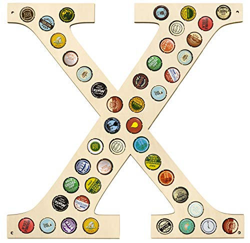 CAPLORD Beer Caps Holder Wall Decor Monogram Letter - Gift for Man Who Wants Nothing (Letter X)