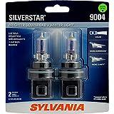 SYLVANIA 9004 SilverStar High Performance Halogen Headlight Bulb, (Contains 2 Bulbs), White (9004ST.BP2)