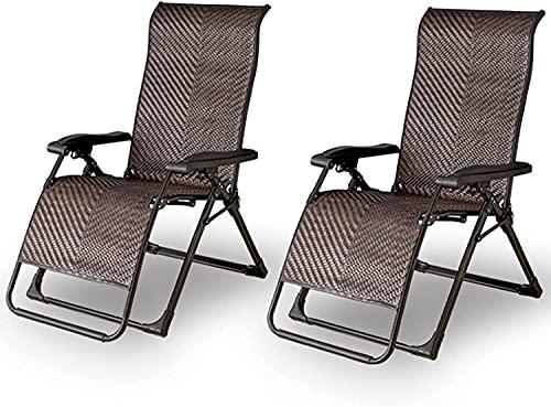 HTZ-M Tumbonas, Silla de Mimbre para Patio, sillón reclinable de ratán Plegable al Aire Libre para jardín, Patio, Porche, balcón, Playa, Piscina