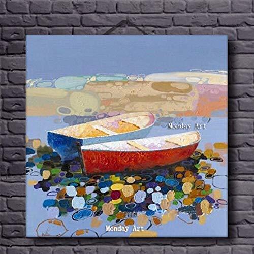 wZUN Paisaje Marino Pintura al óleo Lienzo Pintura decoración del hogar Obra de Arte decoración de la Imagen Mural de la Sala de Estar 60x60 Sin Marco