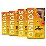 Marchio Amazon - Solimo - Strisce depilatorie trasparenti per corpo con estratto di calendula con 4...