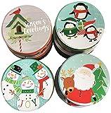 Round Christmas Cookie Tins Set Of 8 Nesting Tins
