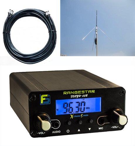 Bundle Deal: Fail-Safe 0.5 W Long Range FM Transmitter + RangeMax 1.0 Professional Grade Antenna Kit + Professional Grade Cable ($300 Dollar Value)