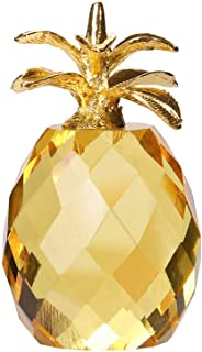 Afazfa💗💗Pineapple Crystal Glass Figure Paperweight Ornament Feng Shui Decor Collection