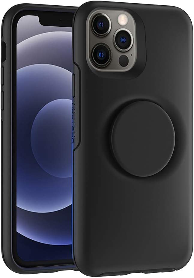 2 in 1 Case Compatible with iPhone 12 and iPhone 12 Pro,Hybrid Design Made of Rigid Back(PC) and Flexible Bumper(TPU) (HEI)