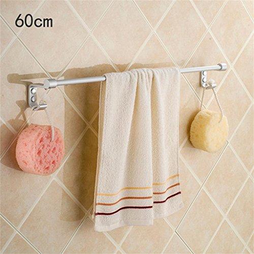 HOHE SHOP/Porte-serviettes Porte-serviettes unique 40 50 60CM crémaillère bain serviette espace d'aluminium en option/étagères de la tour (taille : 60 cm)