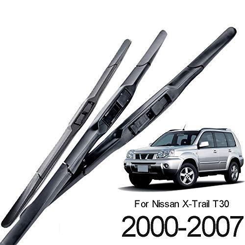"""JJJJD Scheibenwischer vorn hinten Wischerblätter-Satz for Nissan X-Trail T30 2000-2007 Windschutzscheibe Windschutzscheibe 24 """"16"""" 17"""