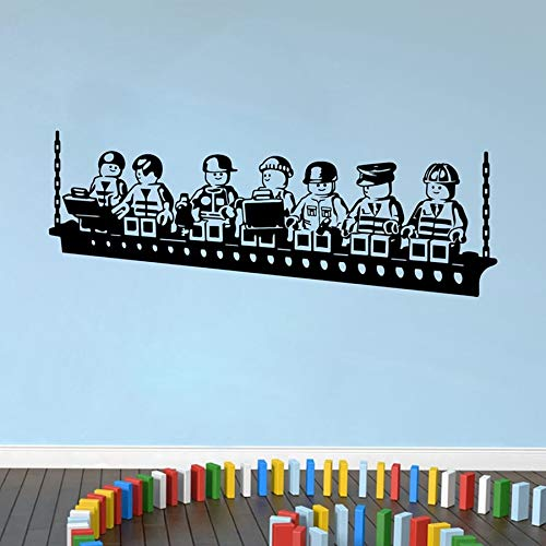 Funny Cartoon Robots Lego Wall Sticker Vinyl Wall Stickers For Kids Room Boys Room Wall Art Decals Baby Bedroom Decor Y170801