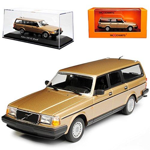 Minichamps Volvo 240 GL Break Kombi Beige Gold 1974-1993 1/43 Maxichamps Modell Auto