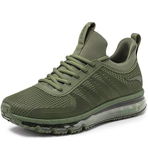 ONEMIX Scarpe da Ginnastica da Uomo, Scarpe da Corsa Casual Sportive Running Fitness Sneakers 1191 Green 45
