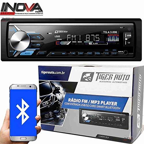 AUTO RADIO Som Automotivo Mp3 Player Tiger Auto C/Bluetooth Usb,sd,aux,fm e app