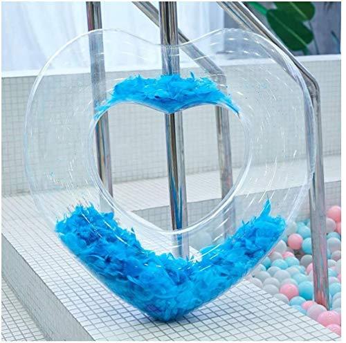 DALUXE Schwimm Reihe, Schwimmbecken Schwimm Ring Außen Schlauchboot Sommerfest Kinder Wasser Aufblasbares Matratze Erwachsene Aufblasbare Spielzeug Freizeit Gummiring,blau