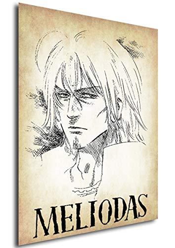 Posters Seven Deadly Sins Wanted Meliodas - A3 (42x30 cm)
