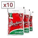 Smoking Classic Filtros Fumar Largo Regular x 10 Bolsas